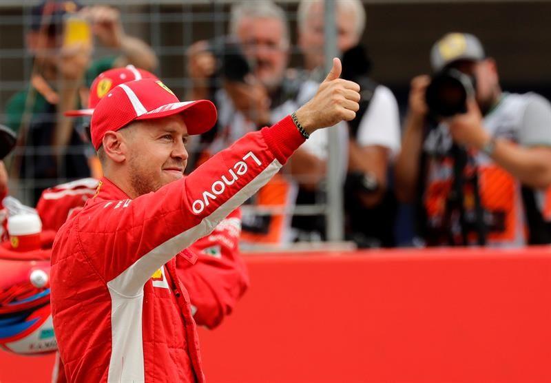 El piloto alemán Sebastian Vettel se quedó con la pole position en el GP de Alemania. Foto: EFE
