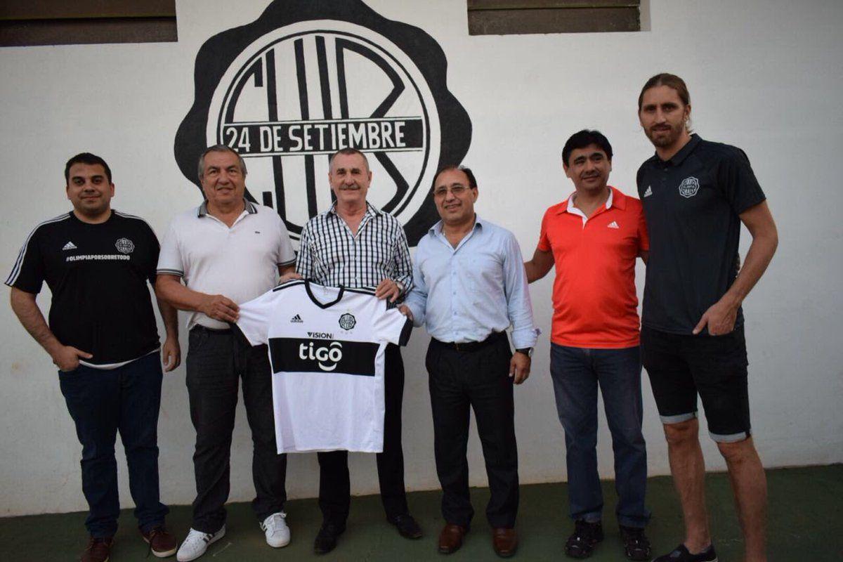 Dirigentes de Olimpia visitaron las instalaciones del 24 de Setiembre. Foto: Gentileza