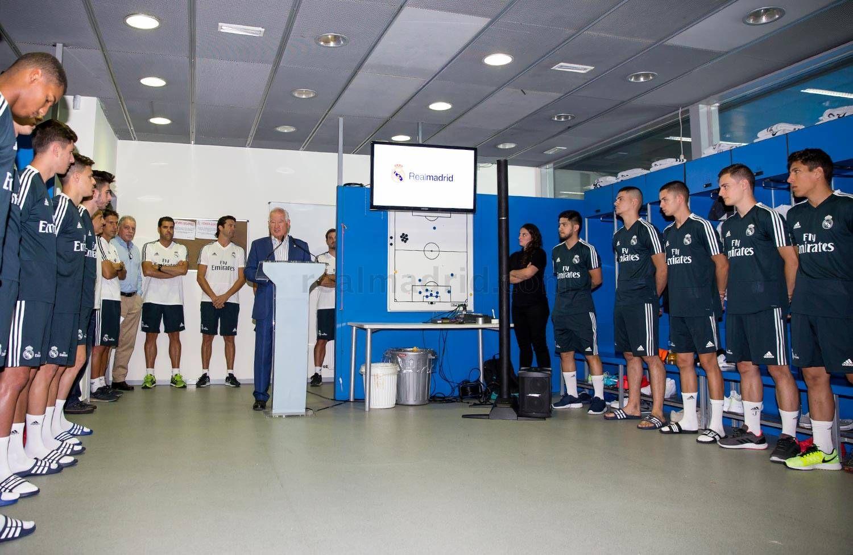 Sergio Díaz presente en el arranque de la temporada 2018/2019.Foto: Real Madrid - Prensa