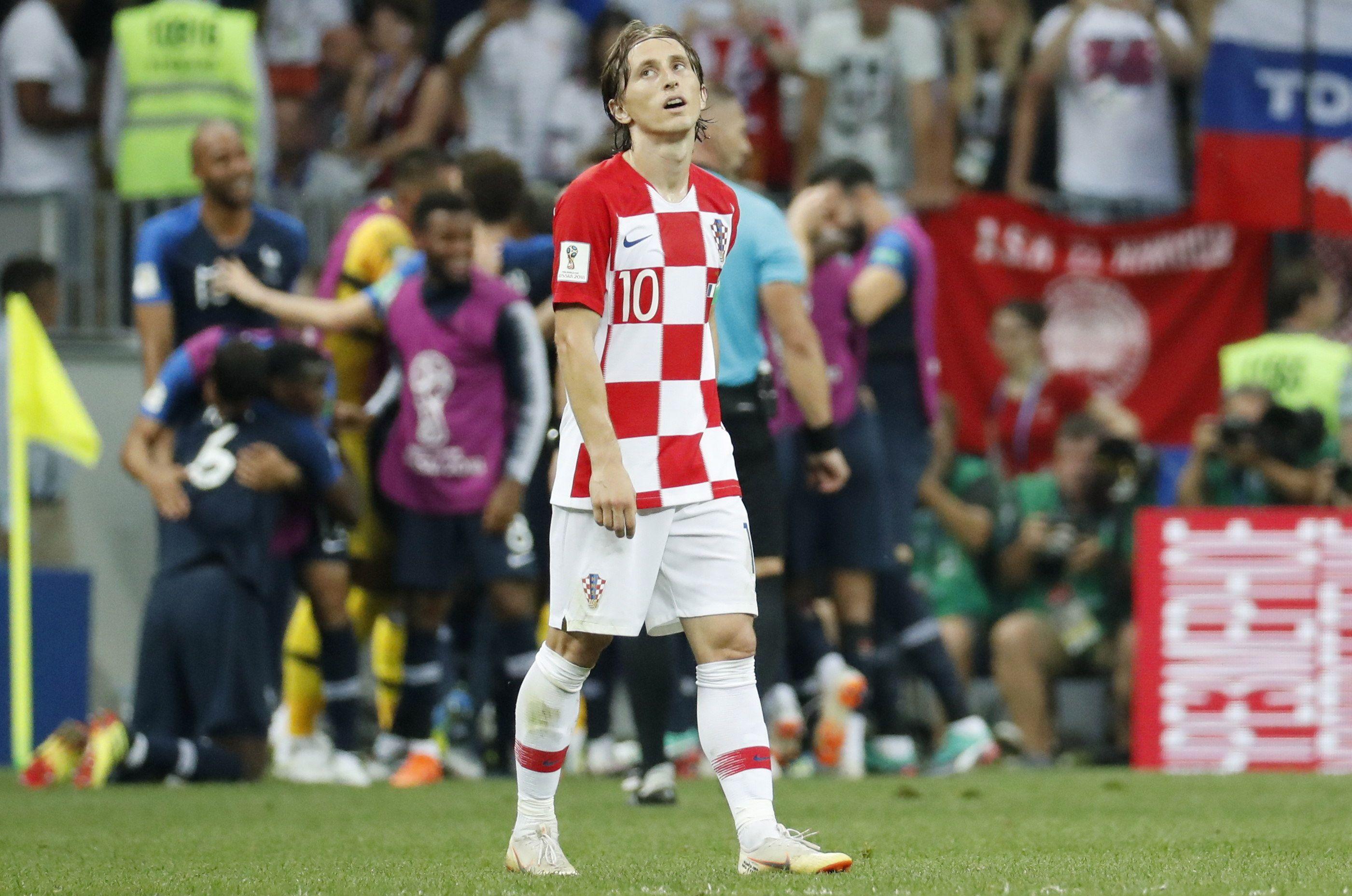 Modric durante la final contra Francia. Foto: EFE