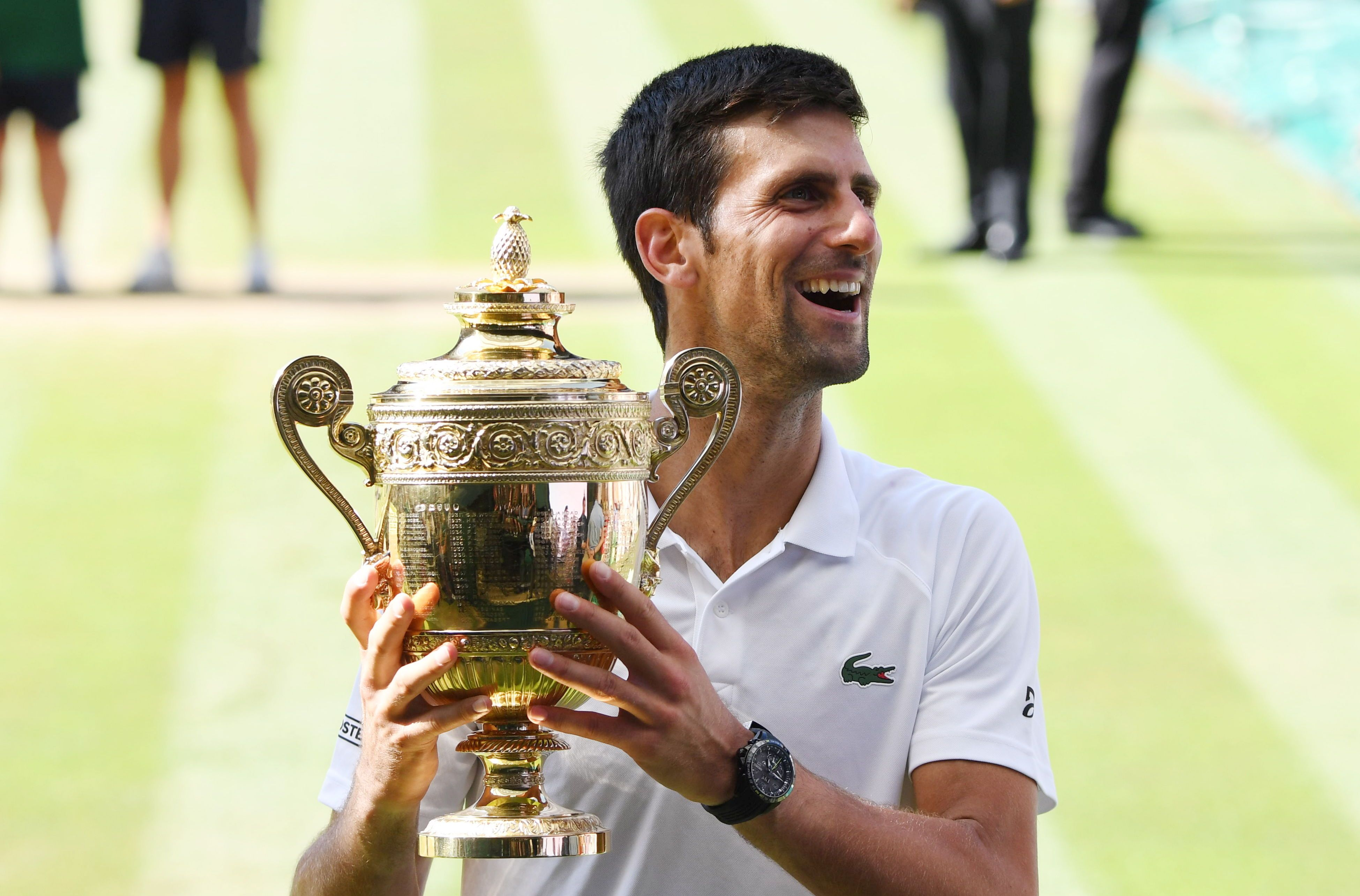 Djokovic ganó Wimbledon por cuarta vez. Foto: EFE