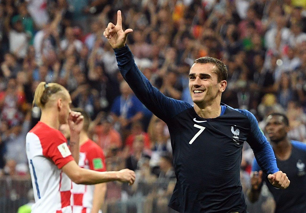 Francia está derrotando a Croacia. Foto: EFE