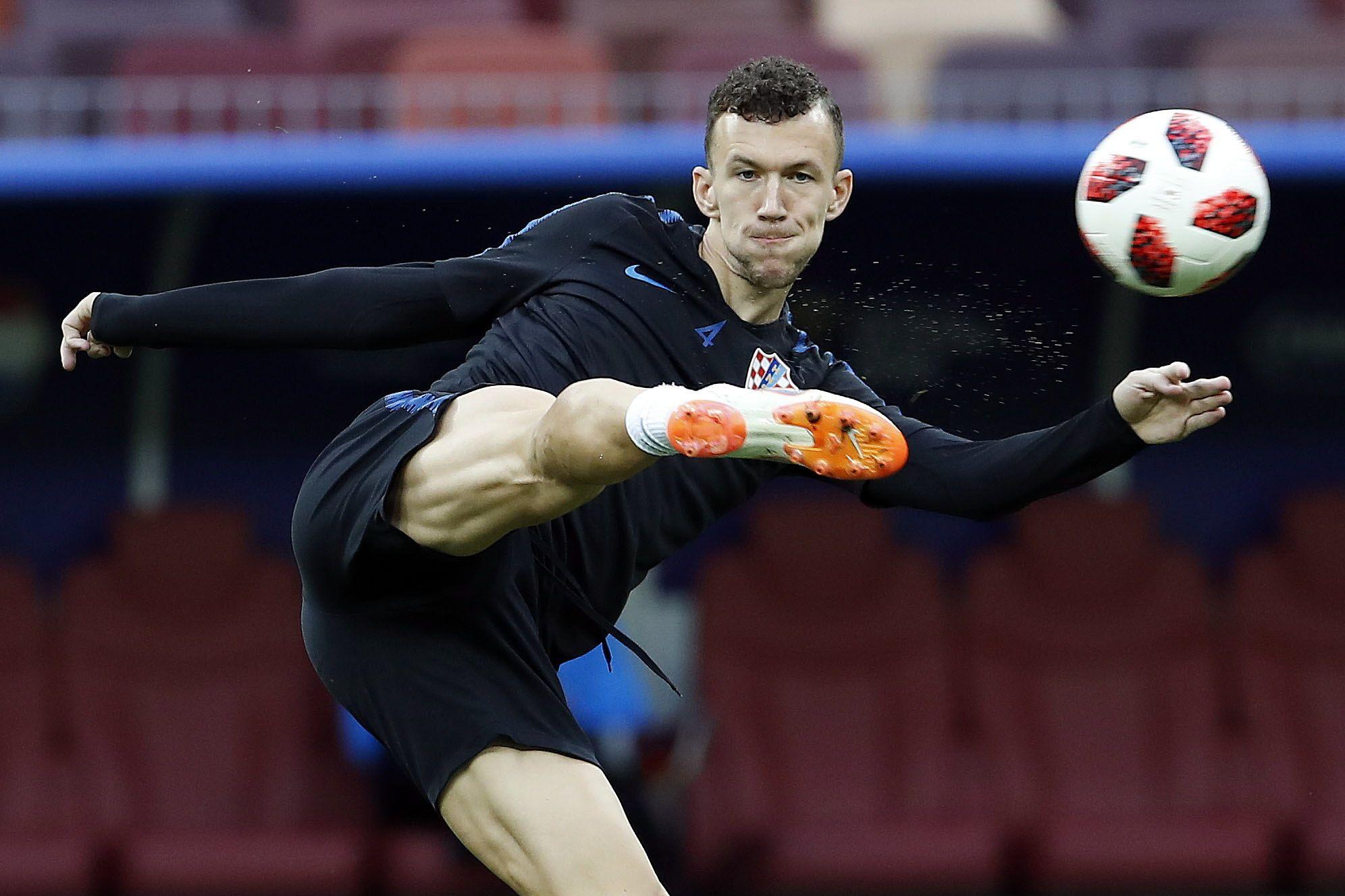 IvanPerisic no participa en un entrenamiento de Croacia. Foto: EFE