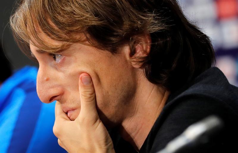 Luka Modric en conferencia de prensa. Foto: EFE