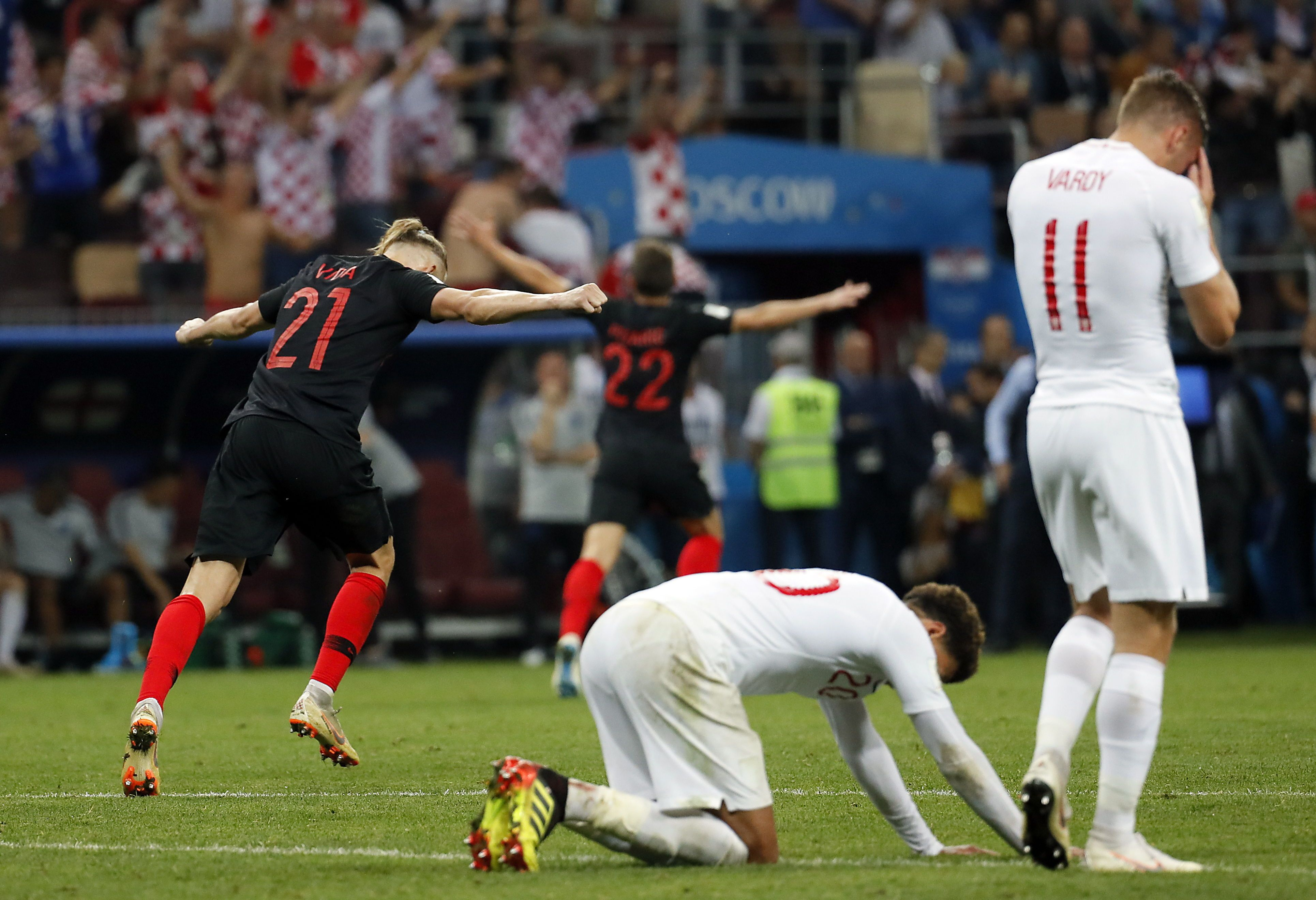 Inglaterra jugará contra Bélgica por el tercer puesto. Foto: EFE