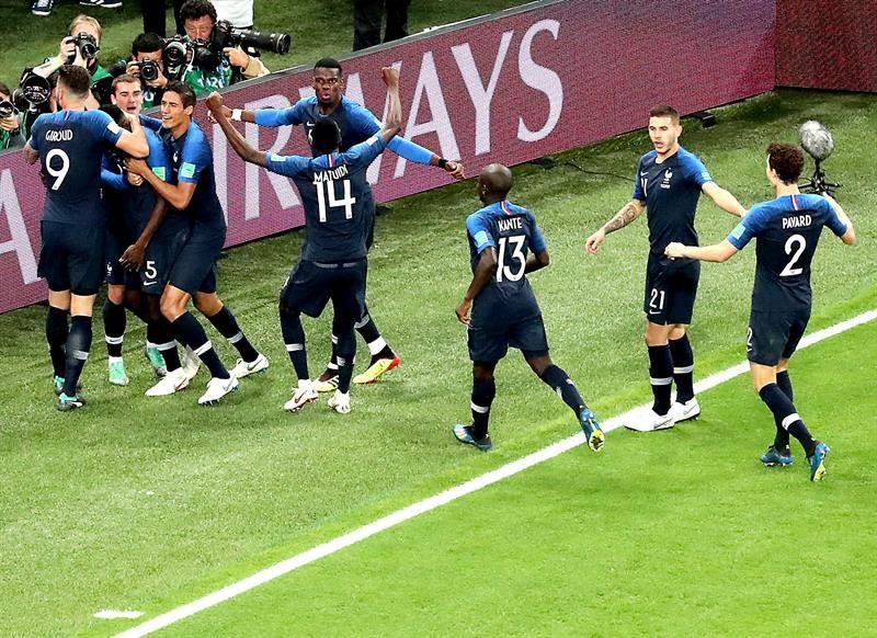Francia alcanzó la final del Mundial de Rusia. Foto: EFE