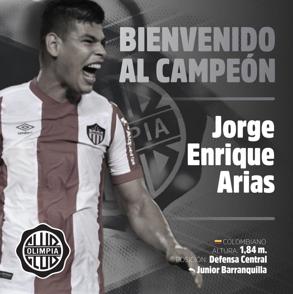 Olimpia anunció oficialmente a Jorge Arias.