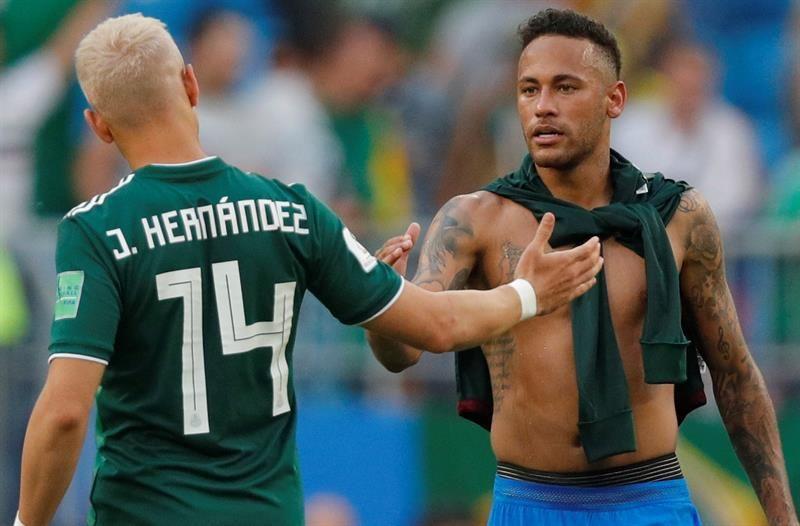Neymar fue la figura de su equipo ante México. Foto: EFE