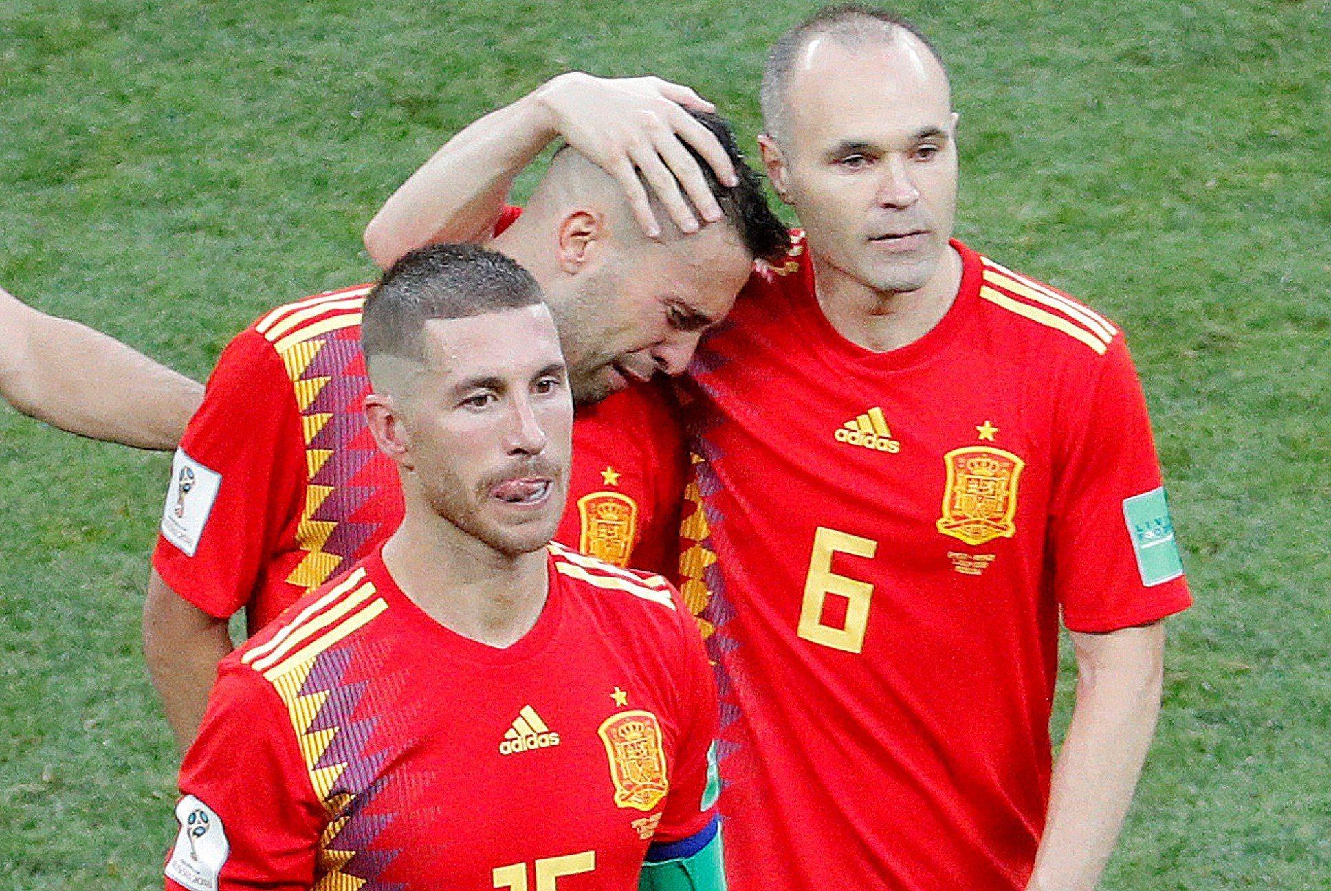 Iniesta se despidió de la Selección de España. Foto: EFE