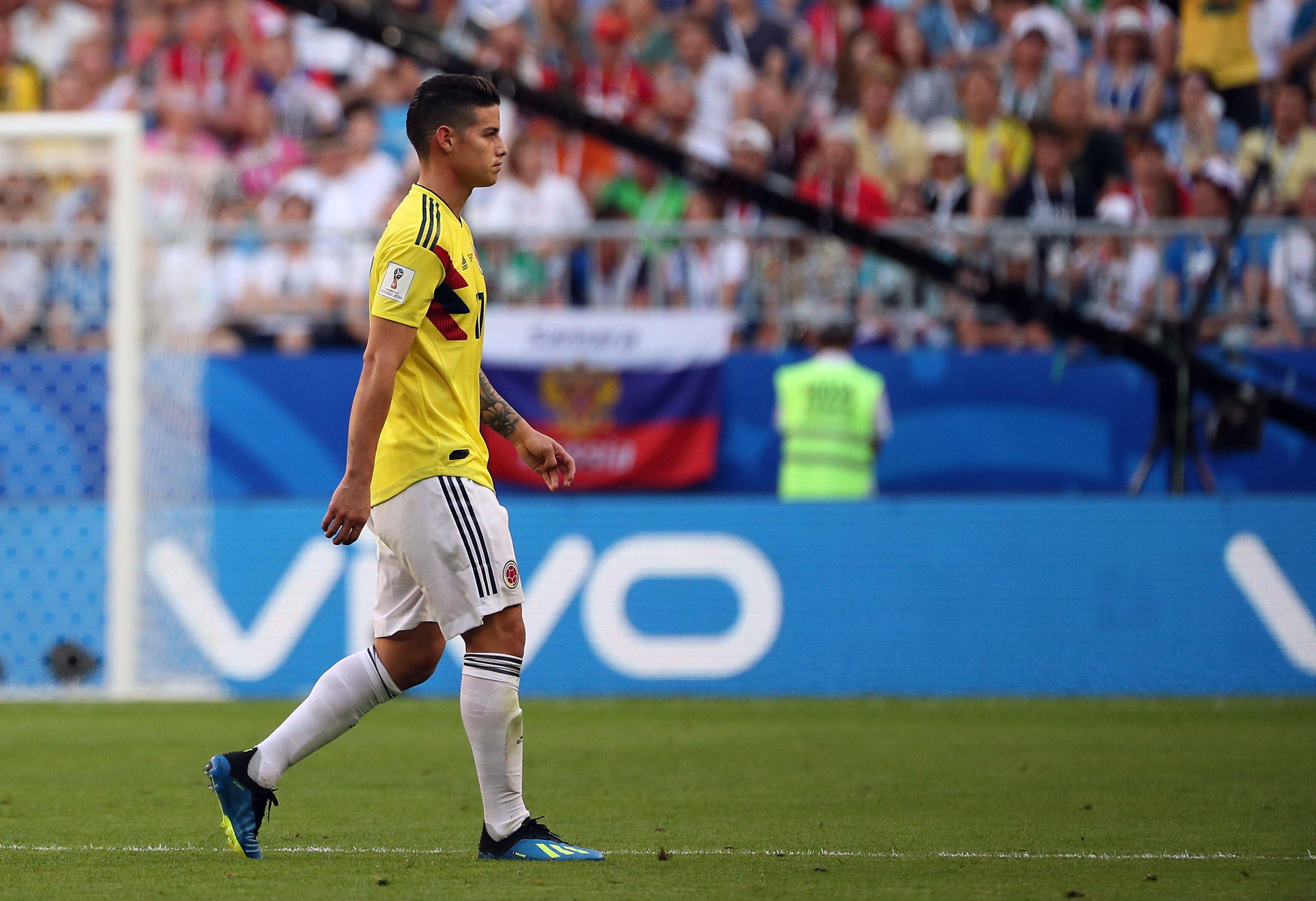 James Rodríguez es duda para el partido ante Inglaterra. Foto: EFE
