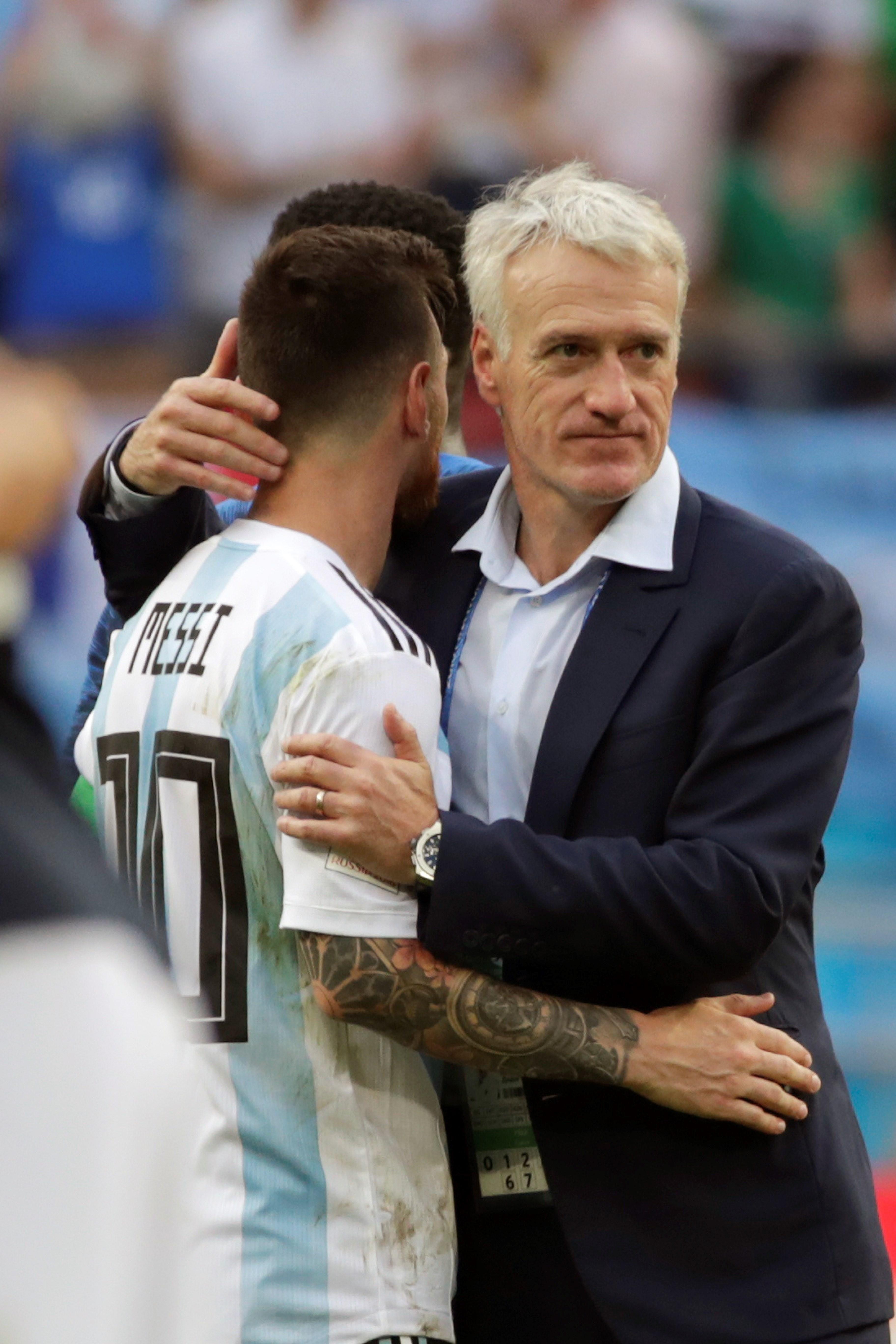 Deschamps: Hemos sabido neutralizar a Messi. Foto: EFE