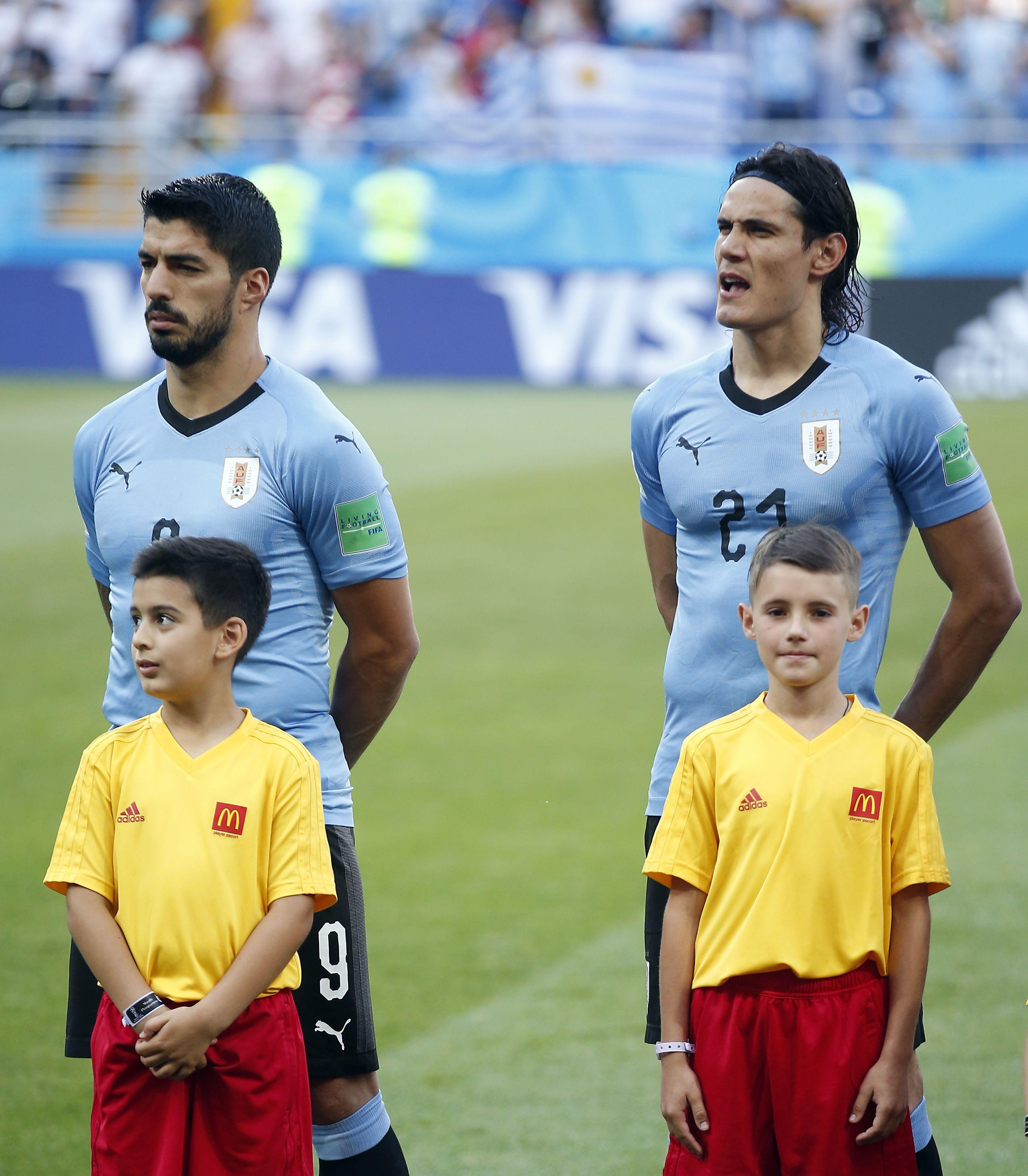 La dupla Suárez-Cavani buscará el pase a cuartos de final en Rusia. Foto: EFE