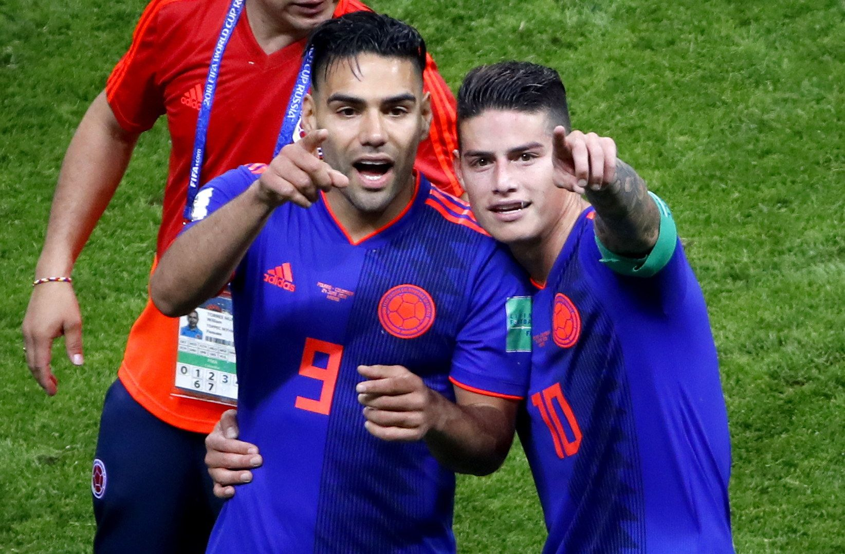 James Rodríguez y Radamel Falcao