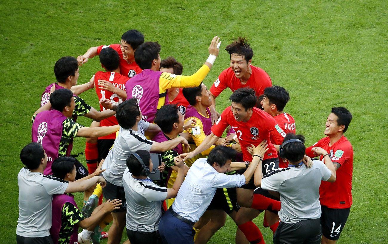 Corea del Sur dio la nota y tumbó a Alemania. Foto: EFE