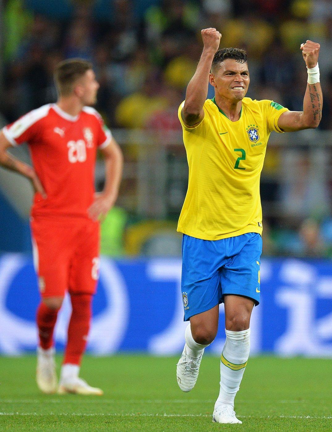 Thiago Silva anotó el segundo tanto brasileño ante Serbia. Foto: EFE
