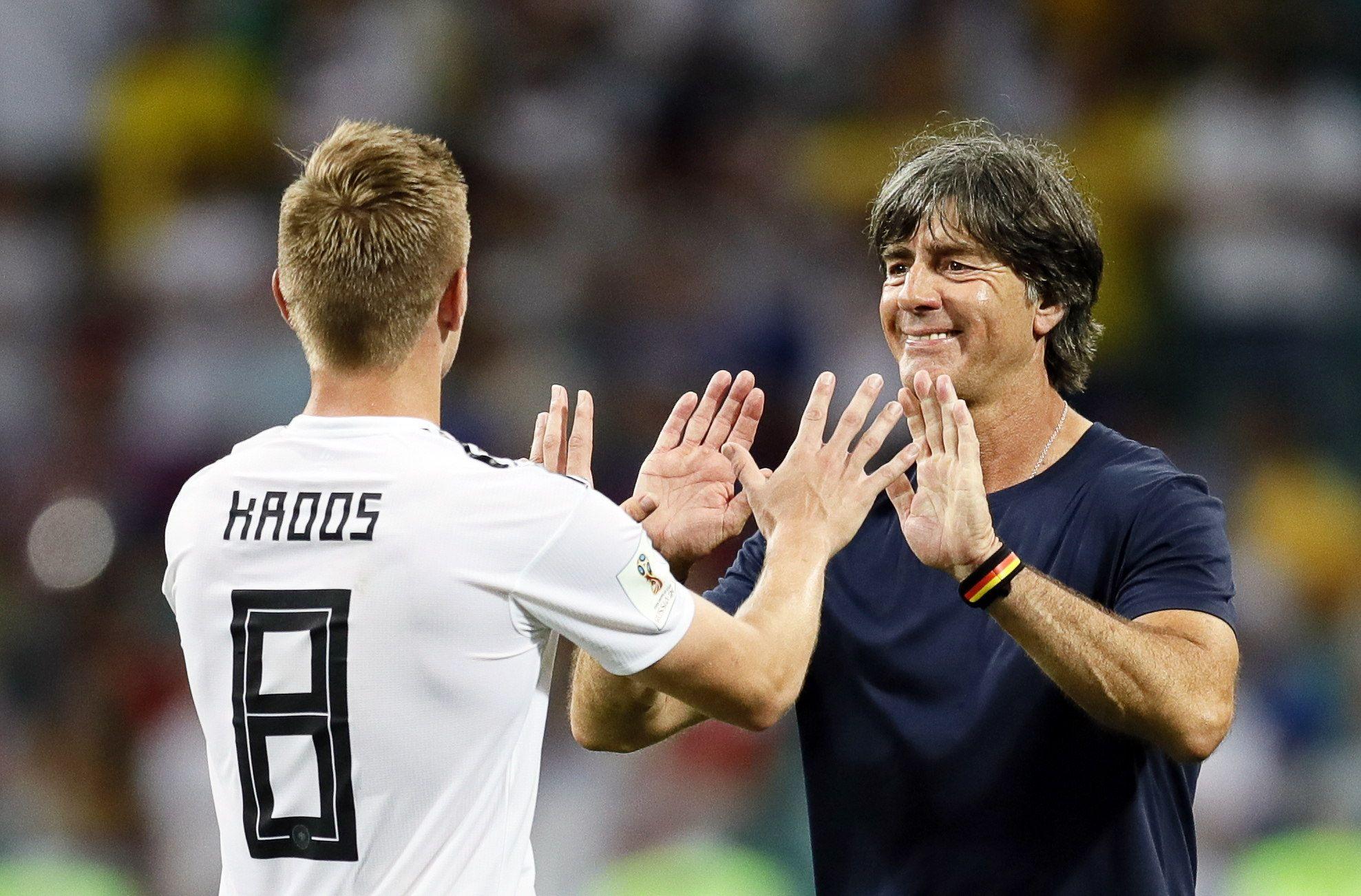 Kroos y Löw esperan que se pueda cumplir con el objetivo. Foto: EFE