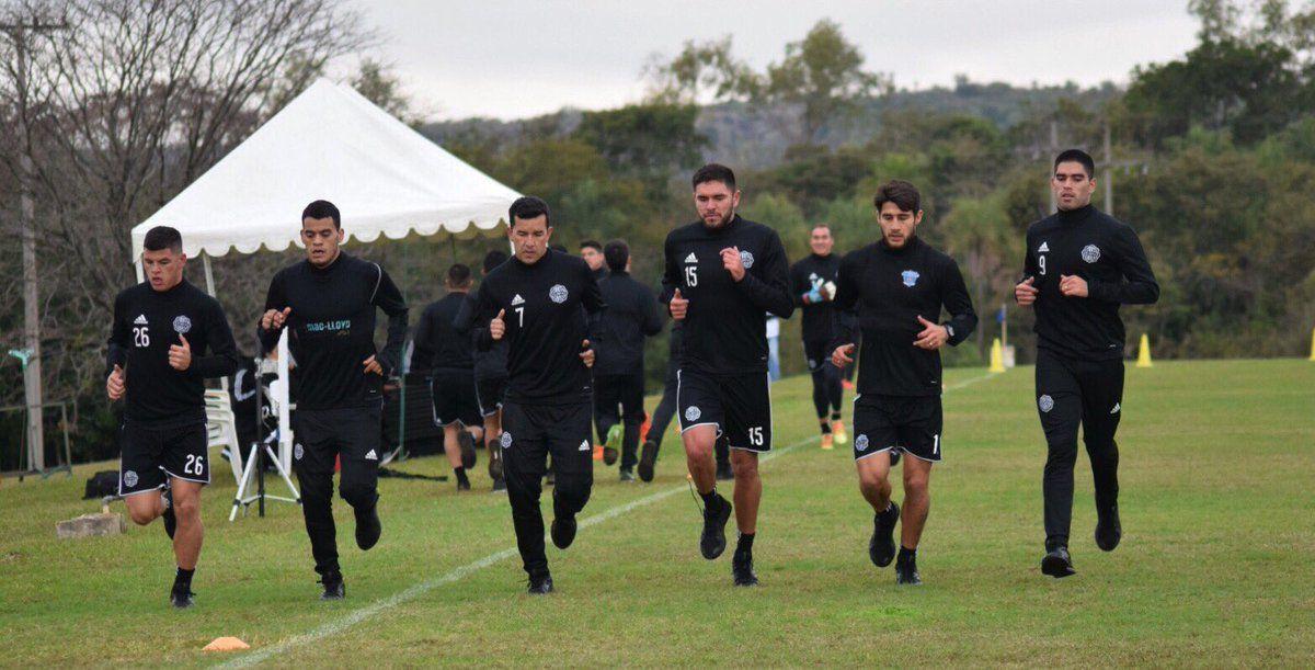 El Decano entrenó este lunes en Tobatí. Foto: Prensa Club Olimpia