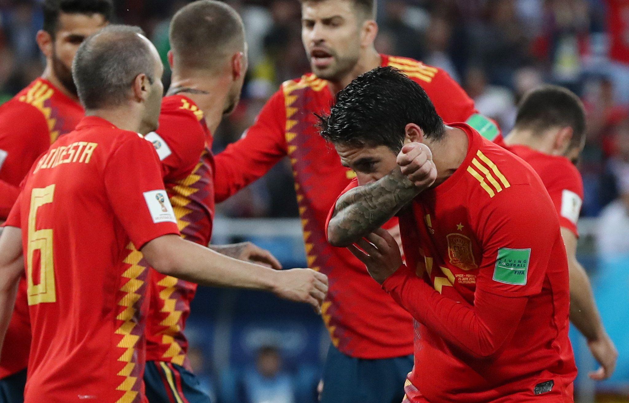 Isco marcó el primer tanto de España ante Marruecos. Foto: EFE