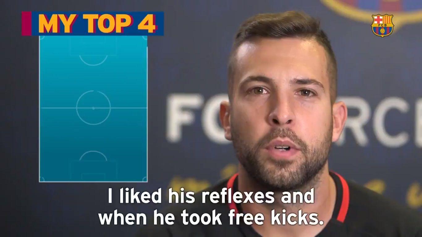 Jordi Alba armó su Top 4 de jugadores históricos.