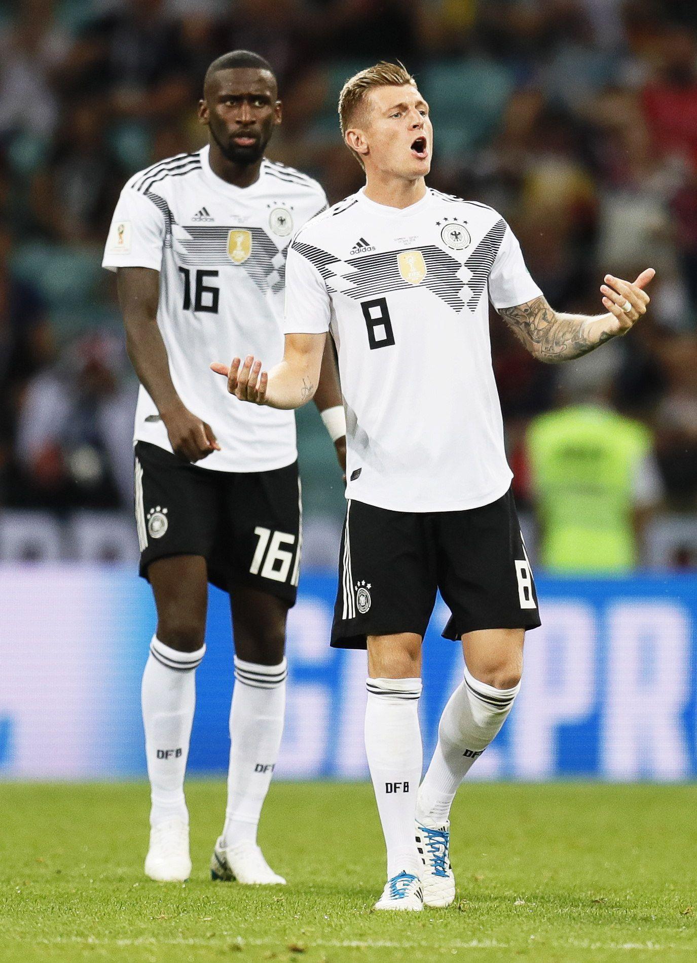 Kroos celebra la anotación que deja a Alemania más viva que nunca. Foto: EFE