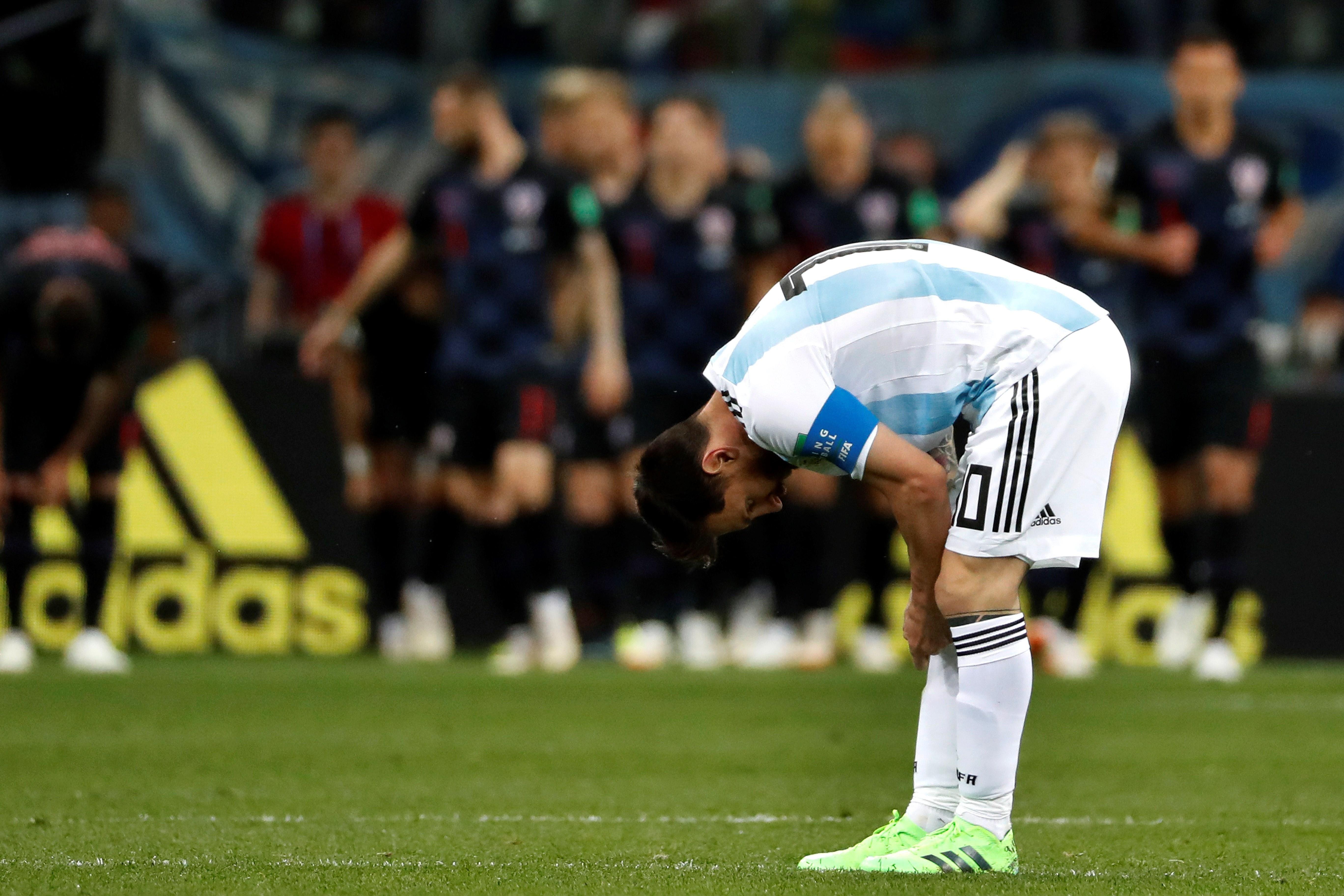Messi mostró un nivel muy bajo en el Mundial. Foto: EFE