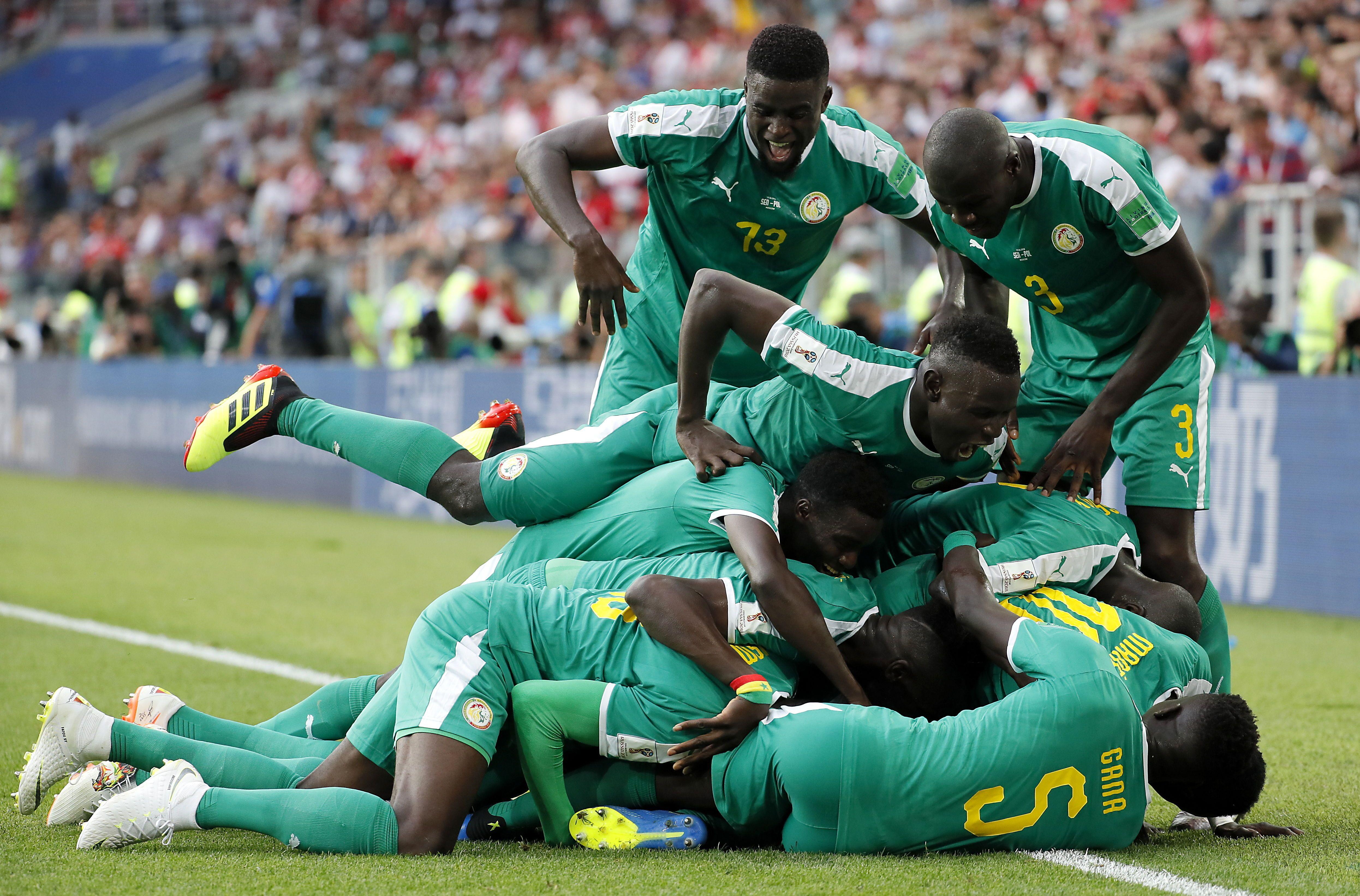 Senegal metió un triunfazo ante Polonia. Foto: EFE