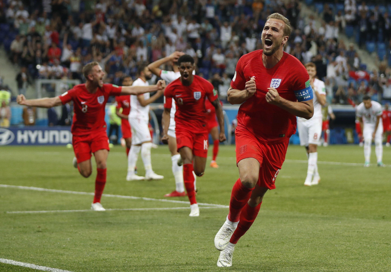 Kane marcó los dos goles de Inglaterra. Foto: EFE