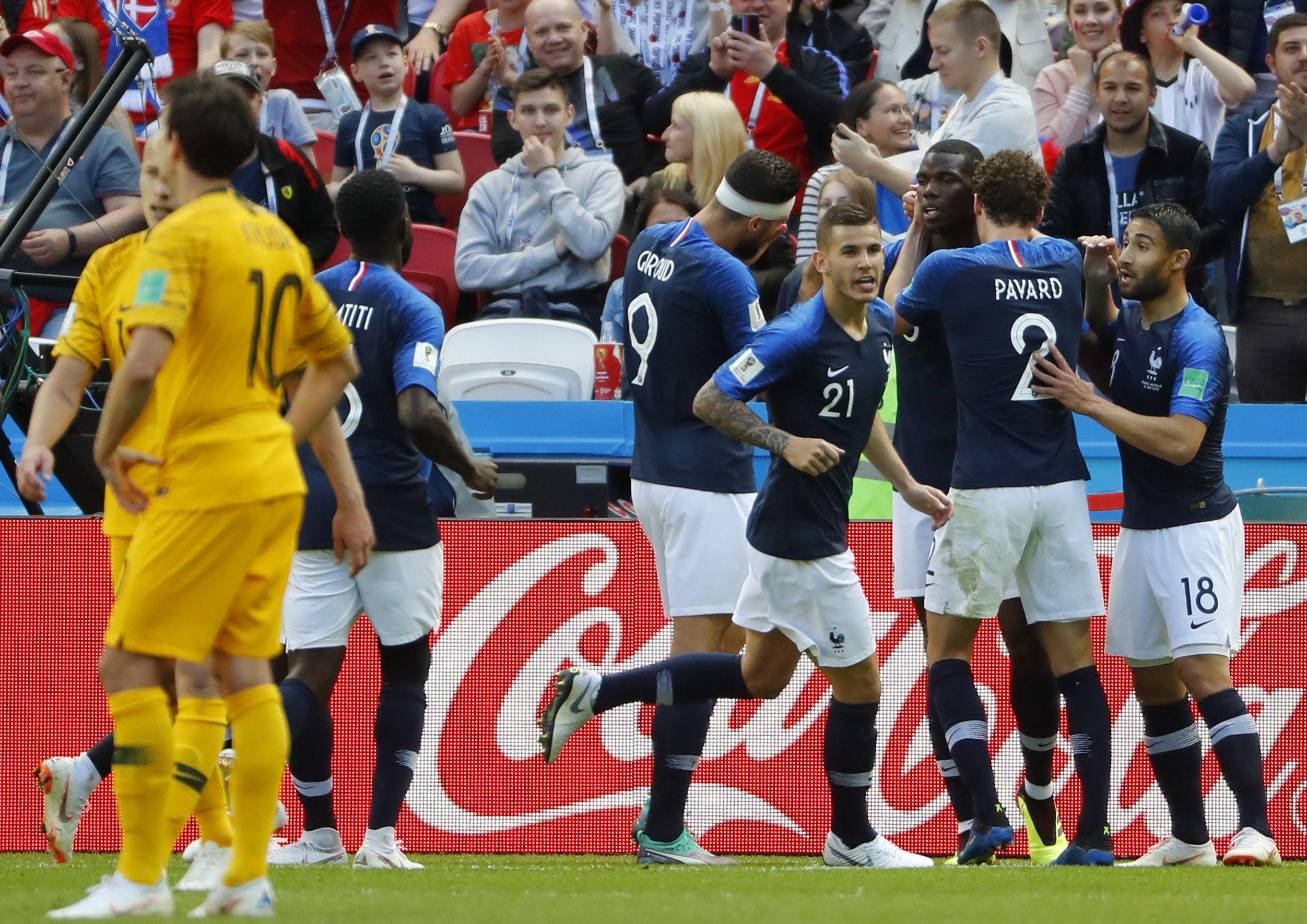 Francia debutó con triunfo en Rusia. Foto: EFE