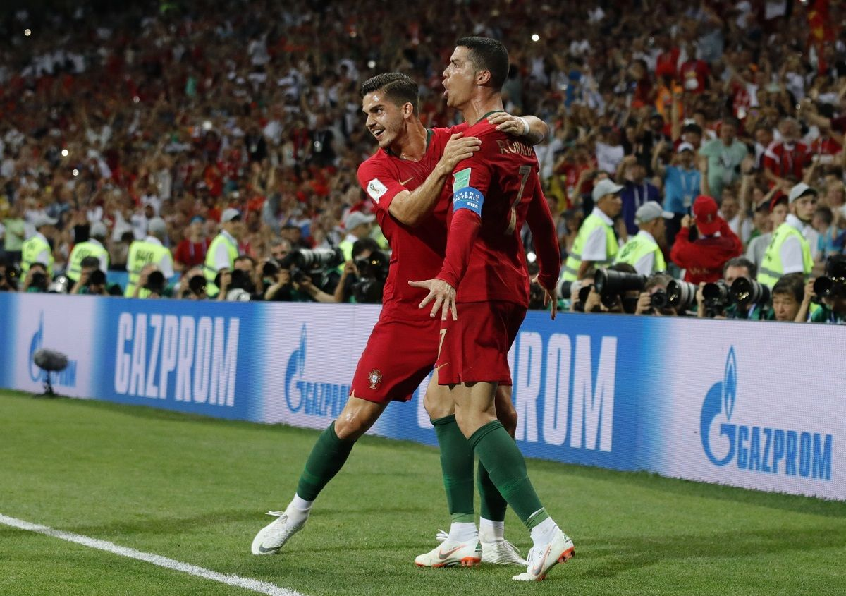 Ronaldo festeja uno de sus goles. Foto: EFE