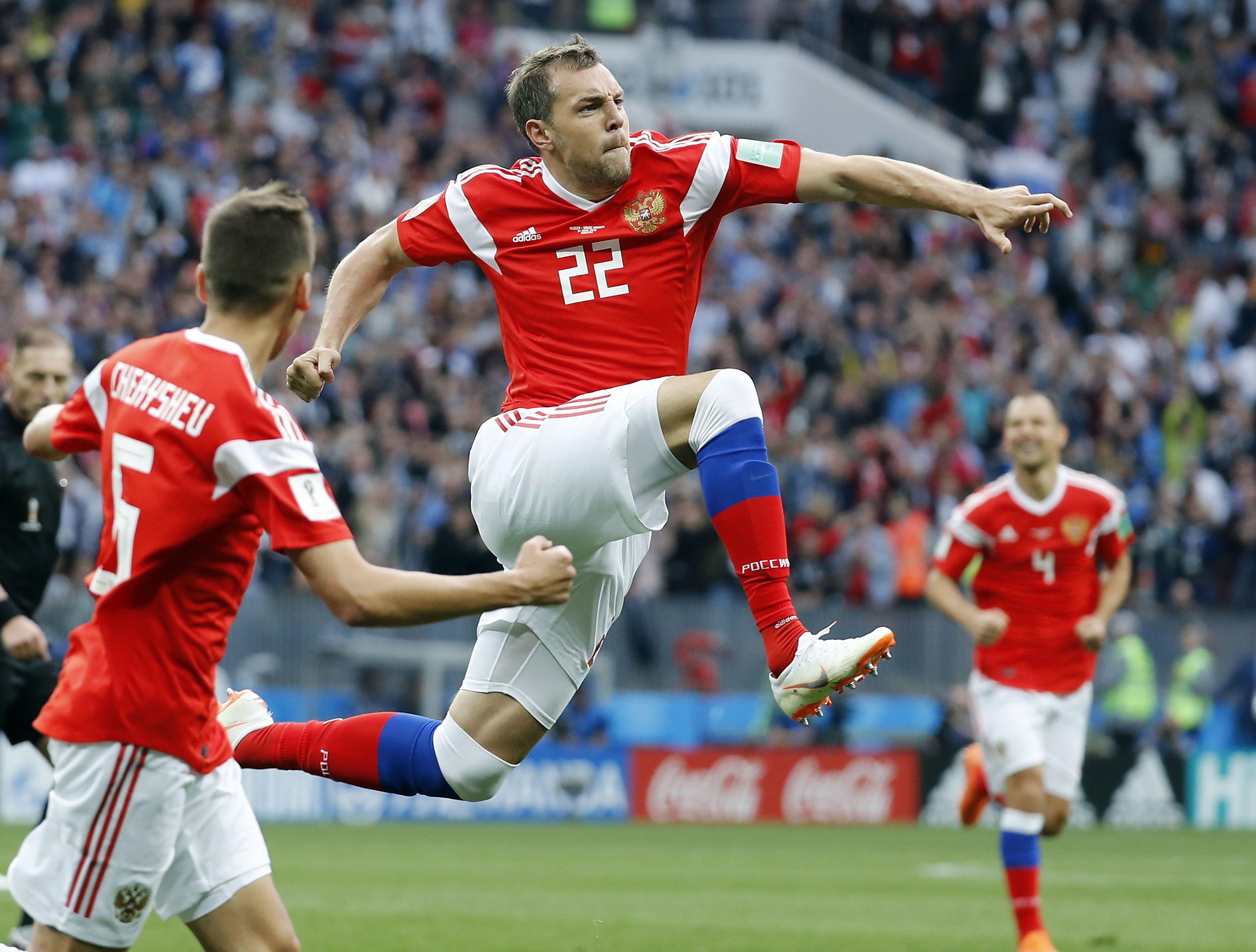 Rusia aplastó en su debut en el Mundial. Foto: EFE