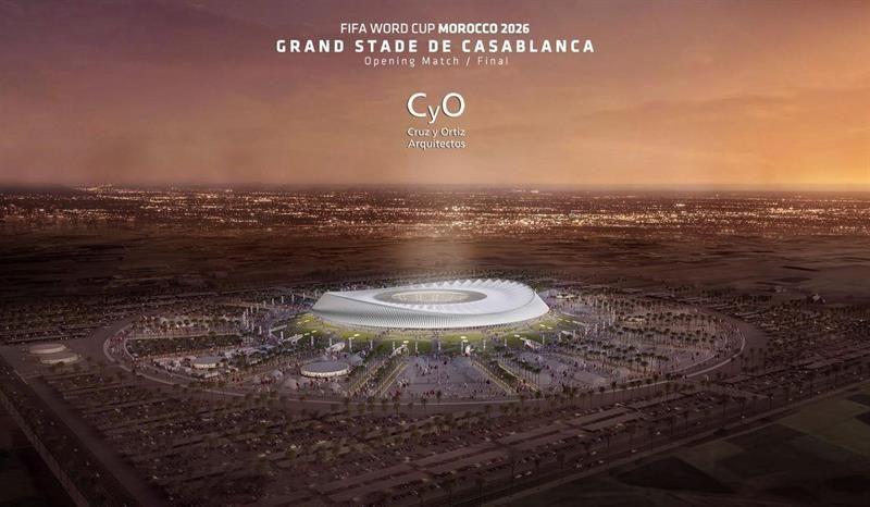 El posible estadio de la gran final de la candidatura para el mundial deMarruecos2026. Foto: EFE