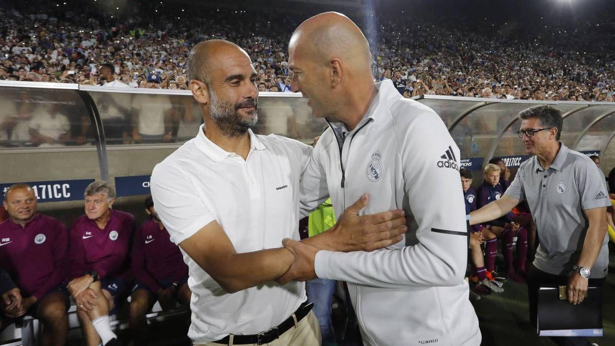 Guardiola elogió al equipo de Zidane.