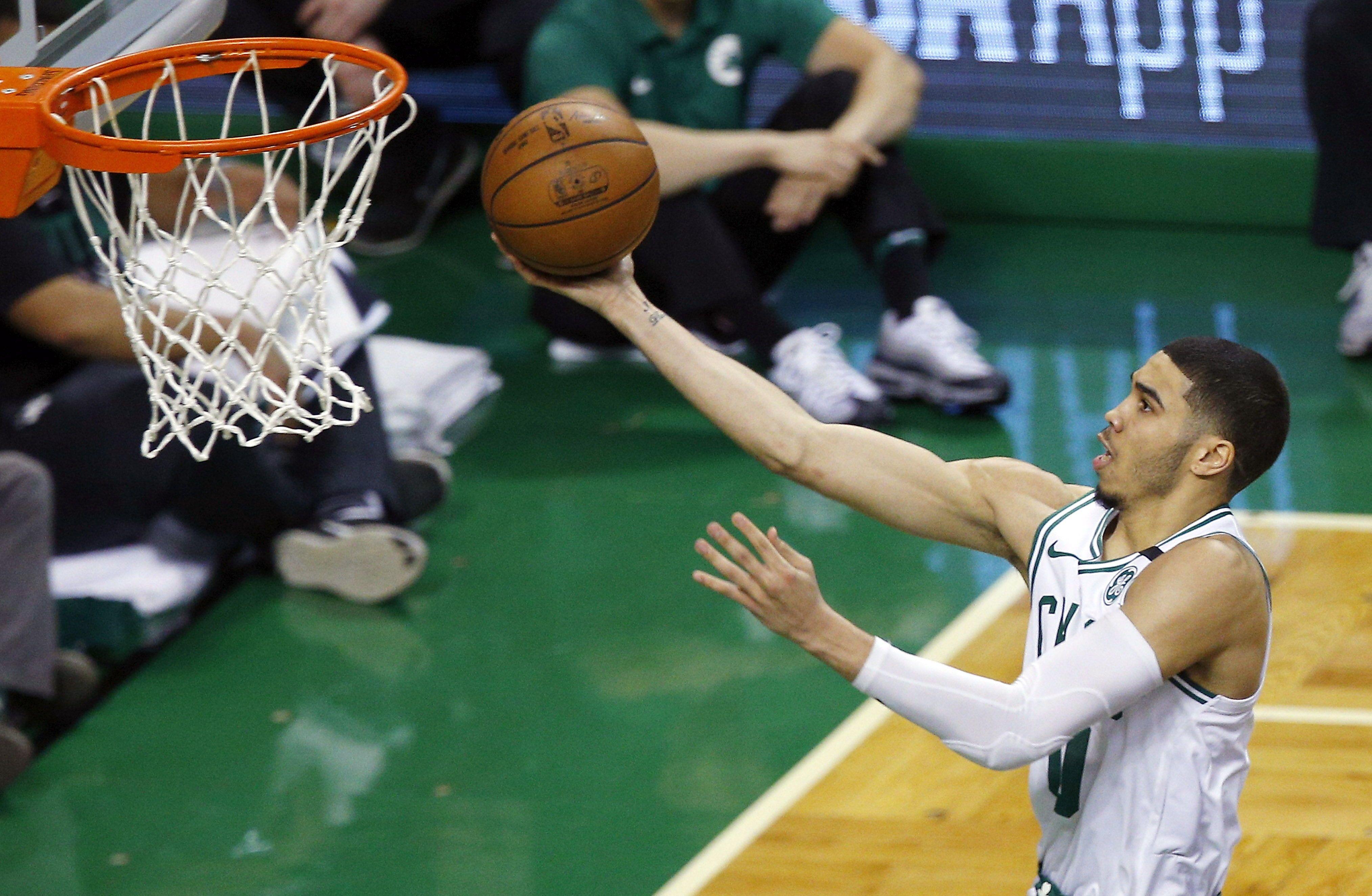 Tatum en acción para los Celtics. Foto: EFE