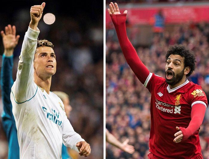Cristiano Ronaldo yMohamed Salah
