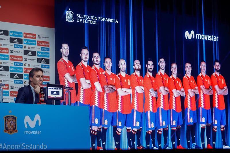 Lopetegui anuncia la lista de jugadores para el Mundial de Rusia. Foto: EFE