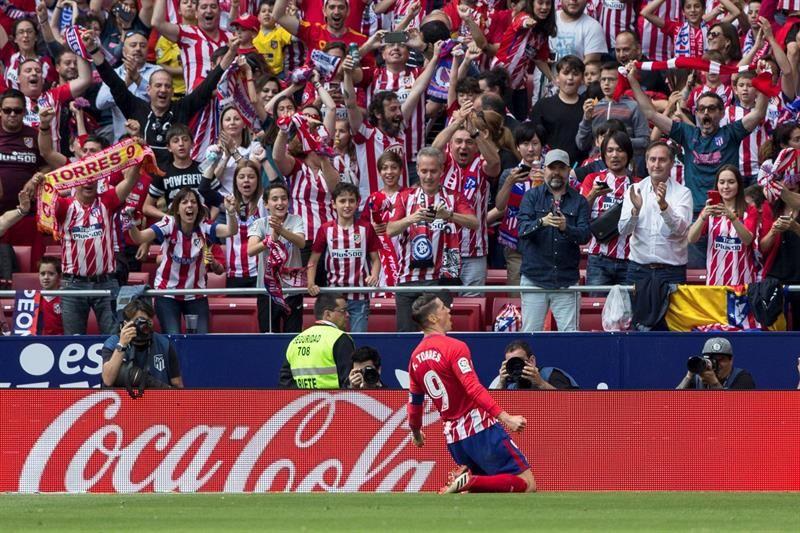 FernandoTorres celebra el gol que marcó contra el Eibar. Foto: EFE