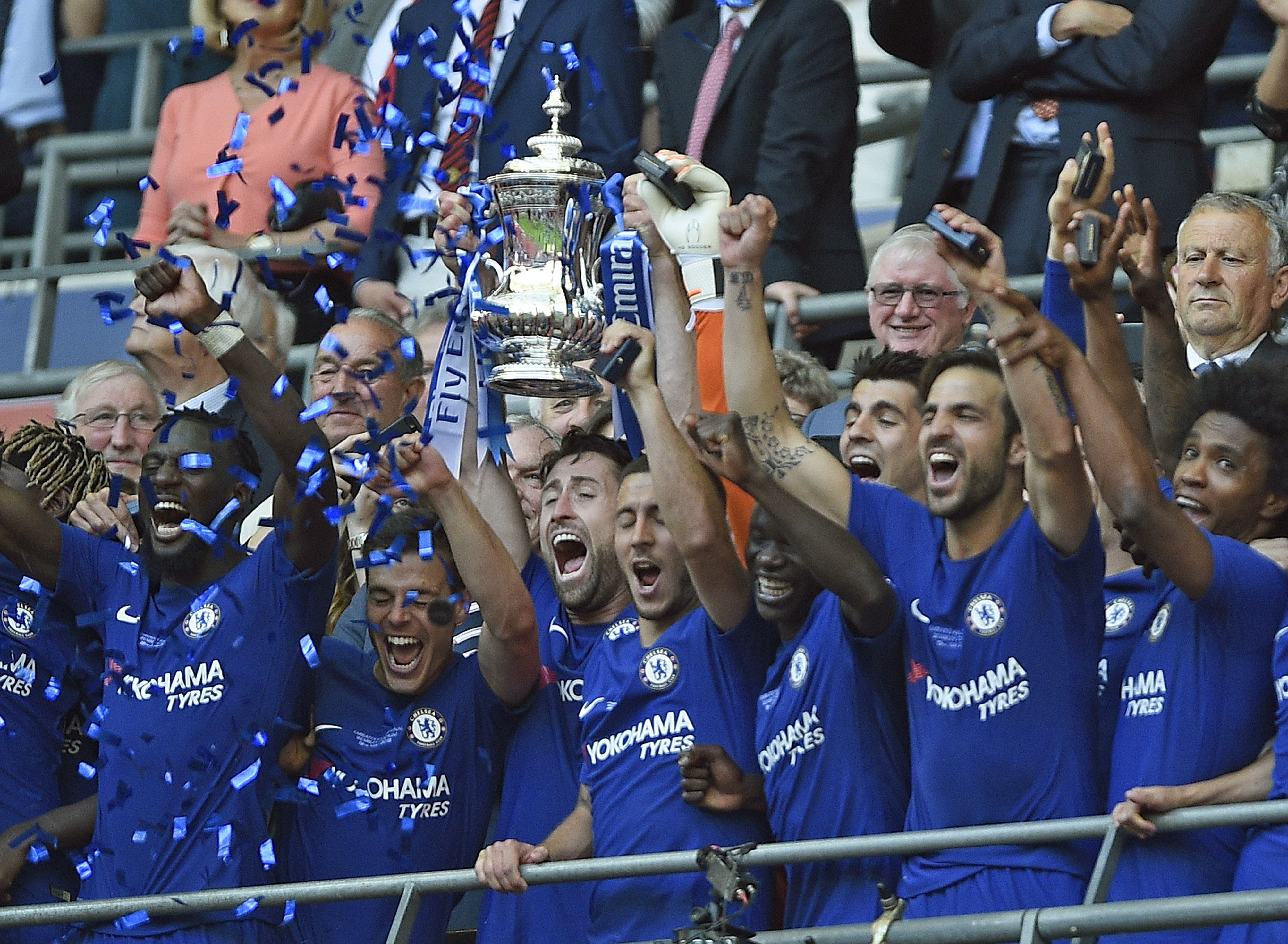 Chelsea se consagró campeón de la FA Cup. Foto: EFE