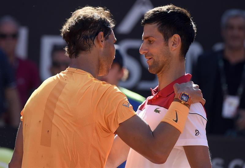 Rafa Nadal vence a Djokovic y buscará su octava corona romana en la final. Foto: EFE