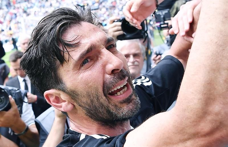 Buffon disputó este sábado el último partido de su carrera en Juventus. Foto: EFE