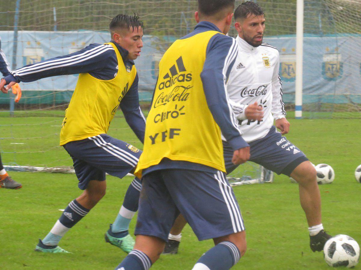 Sergio Agüero se prepara para el Mundial. Foto: @Argentina