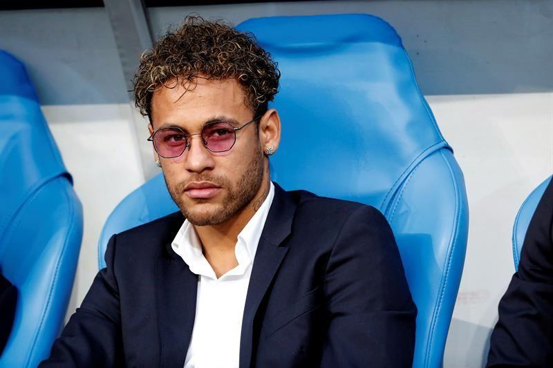 Neymar volvió a Francia y presenció la final copera. Foto: EFE