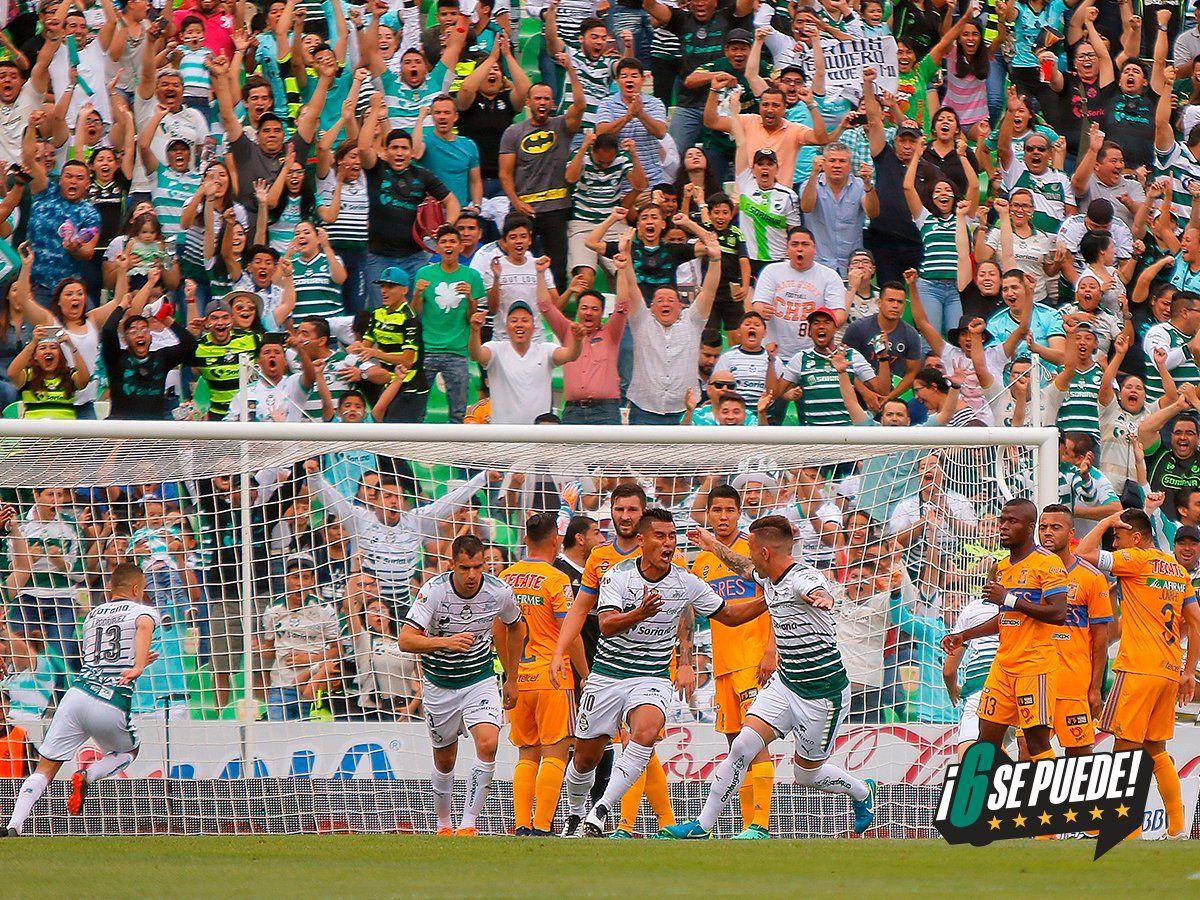 Momento del gol de Martínez. Foto: @ClubSantos