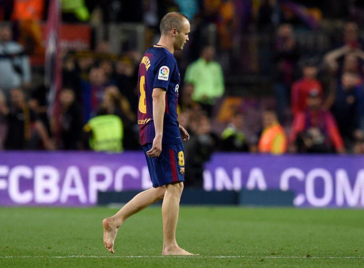 Iniesta jugó su último clásico español. Foto: ESPN