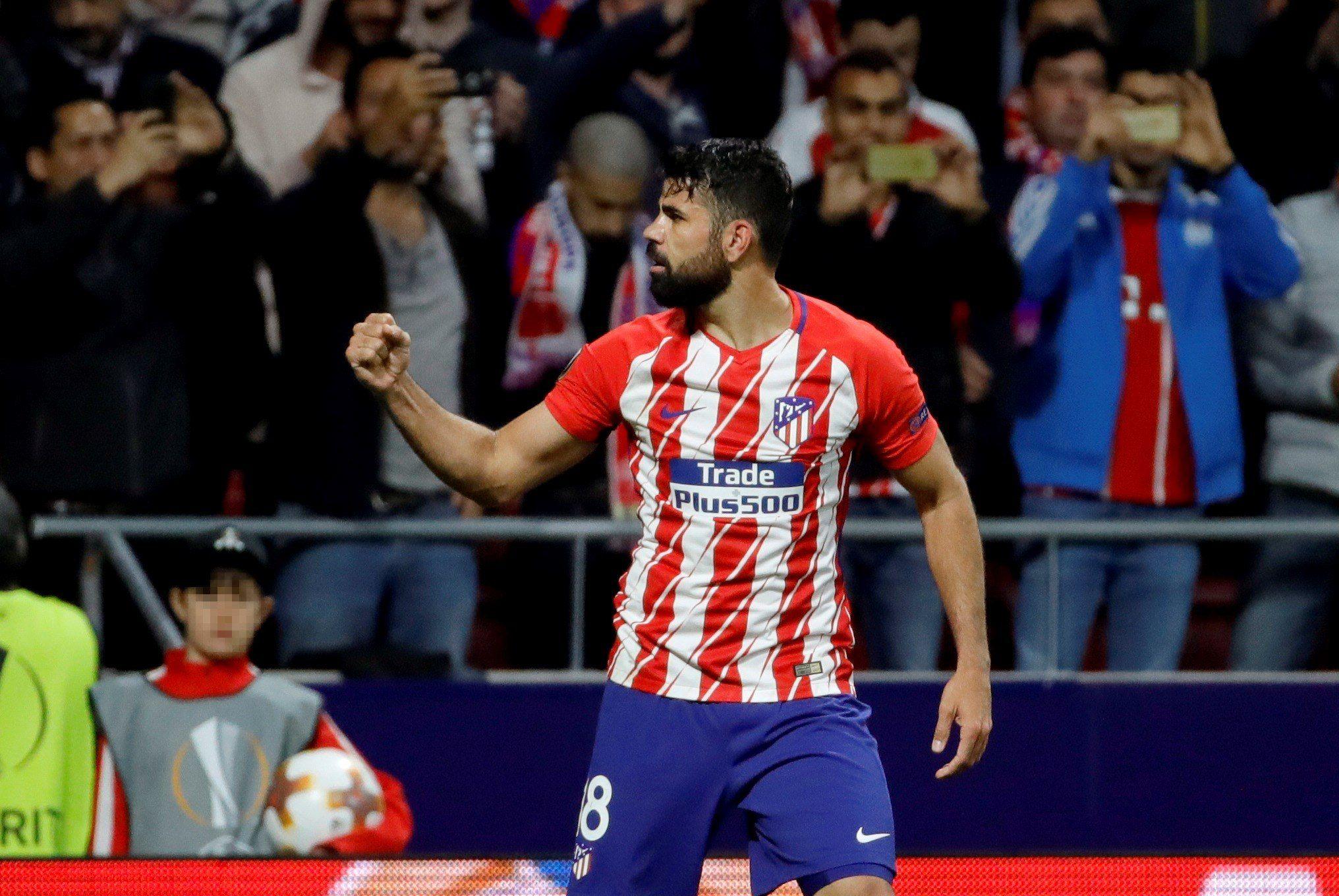 Diego Costa le dio la victoria al Atlético. Foto: EFE