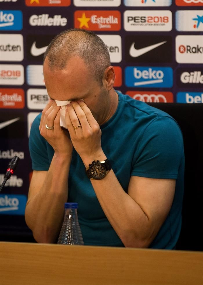 Iniesta anunció hace días que abandonará el Barcelona a final de esta temporada. Foto: EFE