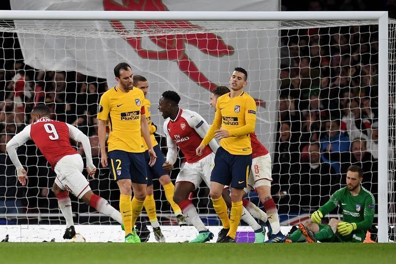 Atlético logra valioso y sufrido en Londres ante el Arsenal. Foto: EFE