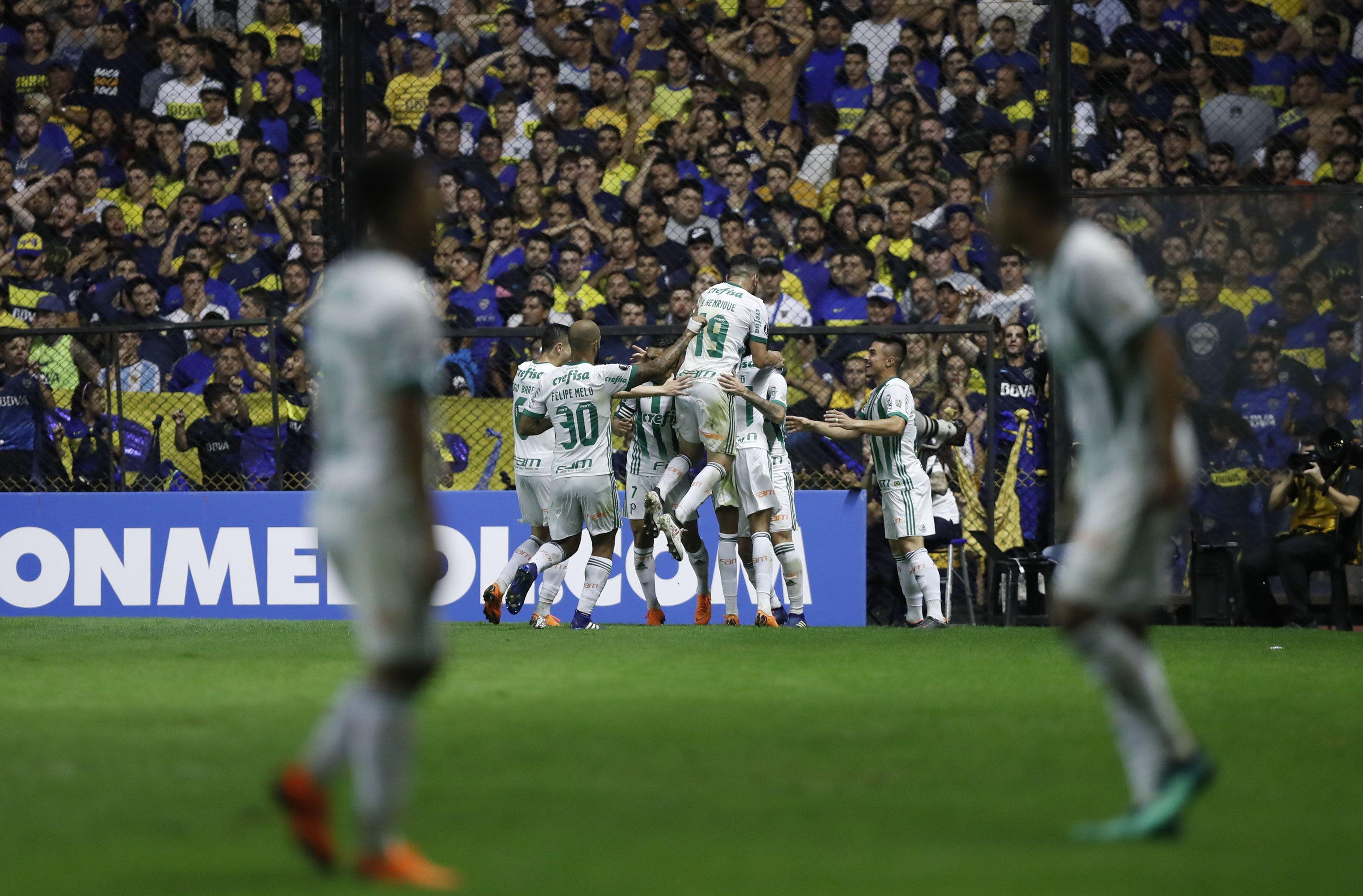 Palmeiras triunfó en La Bombonera. Foto: EFE