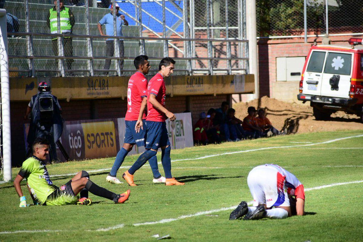 Suspenden el partido tras 5 lesionados del equipo que perdía 7-0. Foto: Gentileza