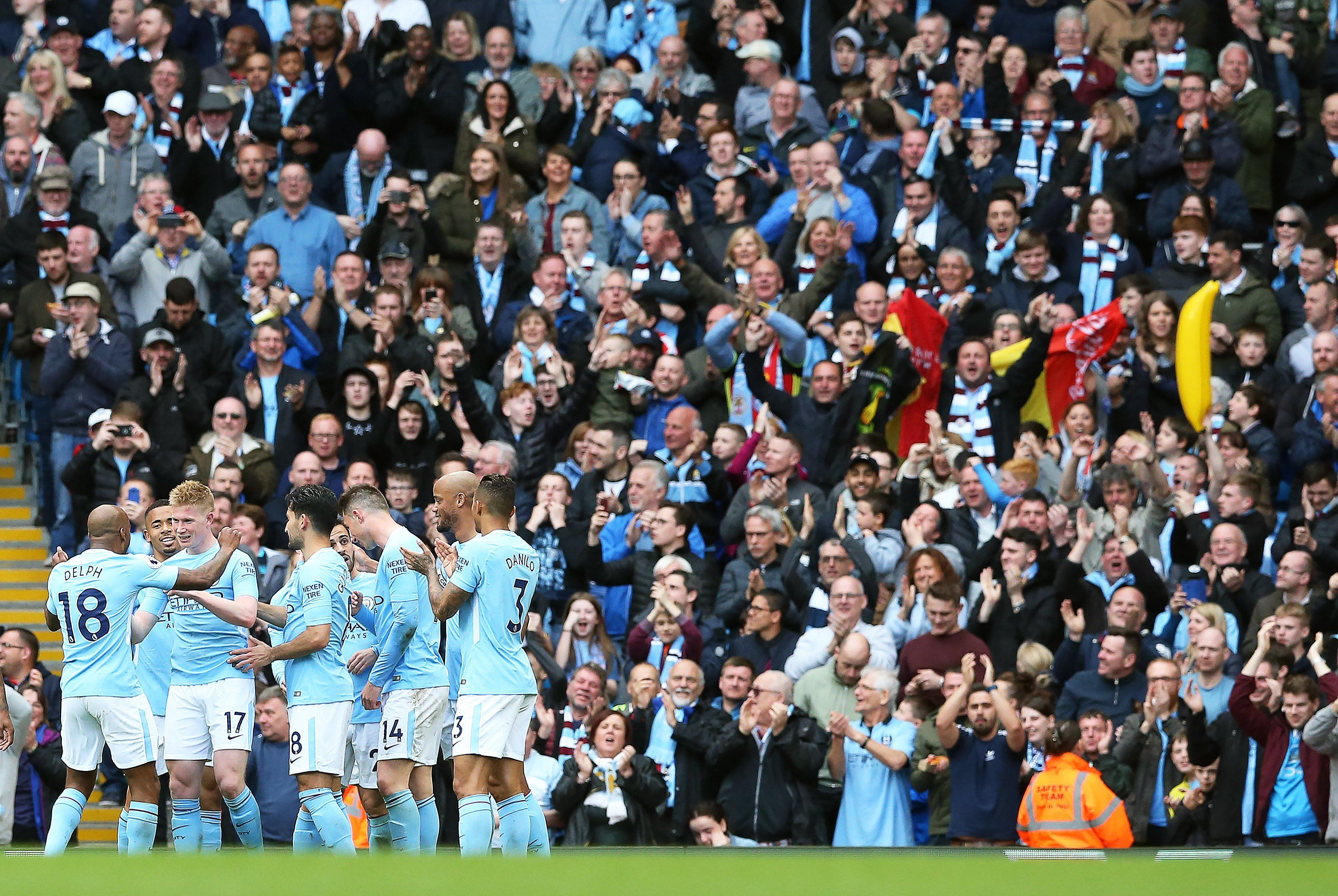 El City goleó este domingo. Foto: EFE