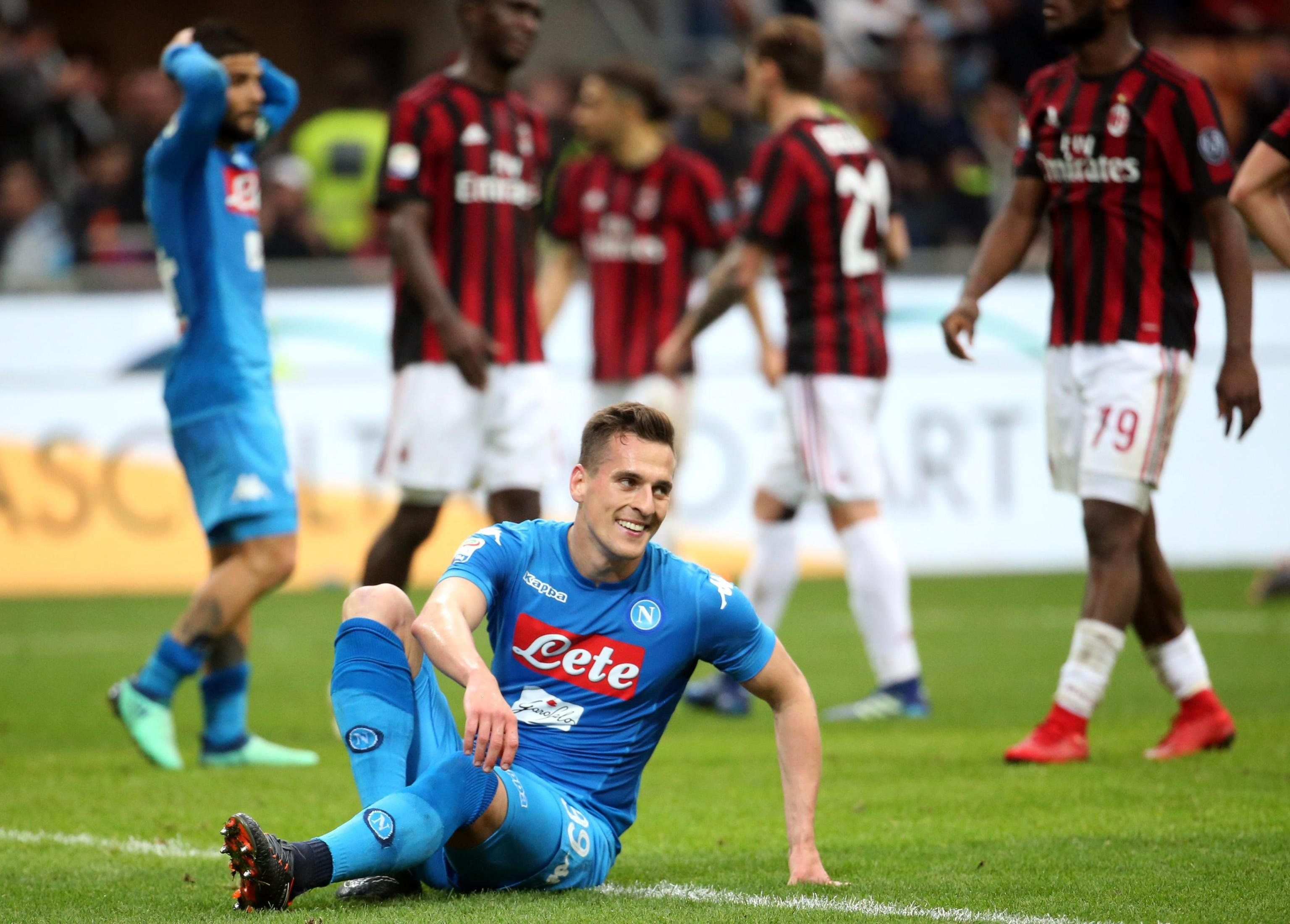 El Napoli lamentó el tapadón del portero rival. Foto: EFE
